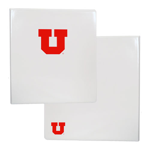 "Image For University of Utah Block U Clear Overlay 1/2"" Binder"
