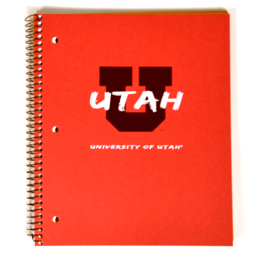 Image For 3-Subject University of Utah Notebook