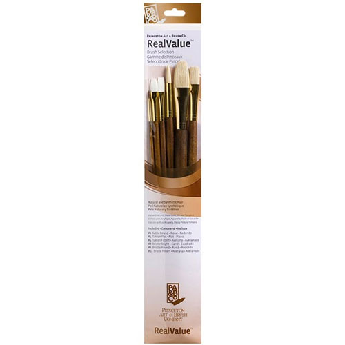 Image For Real Value Synthetic & Natural Brush Set