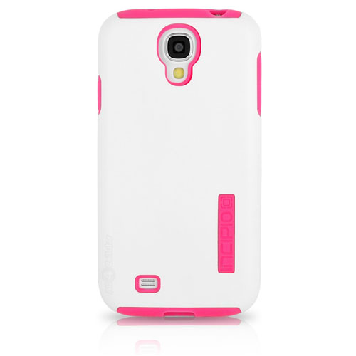 Image For White & Pink Case for Galaxy 4