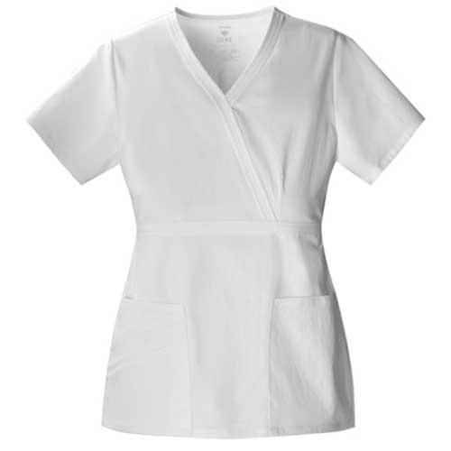Image For Cherokee LUXE Womens Mock Wrap Scrub Top