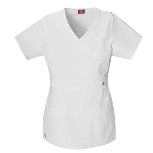 Image For Dickies Youtility Jr. Fit Mock Wrap Womens Scrub Top
