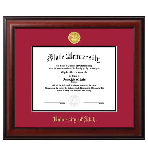 Image For Jostens Meridian Diploma Frame Red-Black Matte