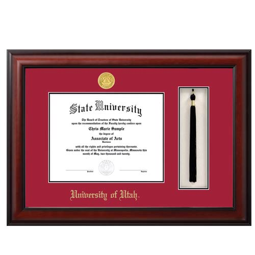 Image For Jostens Meridian Diploma Frame-Tassel Box Red-Black Matte