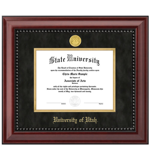 Image For Summit Diploma Frame Black/Red 8.5 x 11 Inches