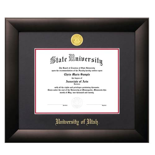 Image For Jostens Lancaster Diploma Frame Black-Red Matte