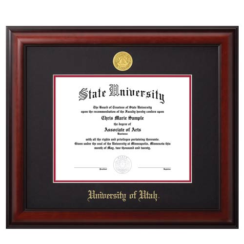 Image For Jostens Meridian Diploma Frame Black-Red Matte