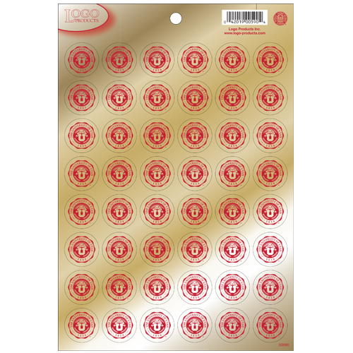 Image For University of Utah Gold Medallion Stickers