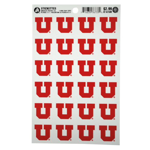 Image For University of Utah Red Block U Stickers