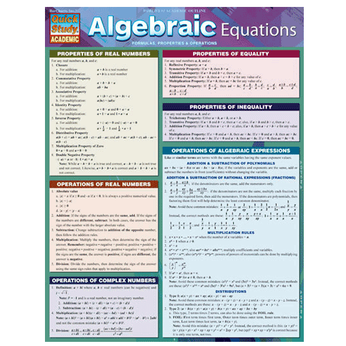 Image For Algebraic Equations