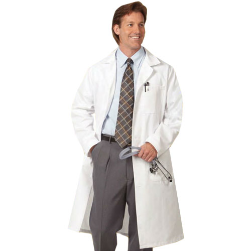 Cover Image For Mens Extra Long White Coat-6480