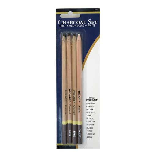 Image For Pro Art 4 Pack Charcoal Set