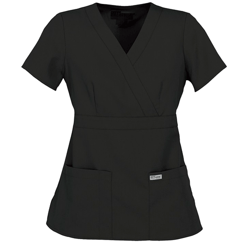 Image For Barco Greys Anatomy Modern Fit Mock Wrap Scrub Top