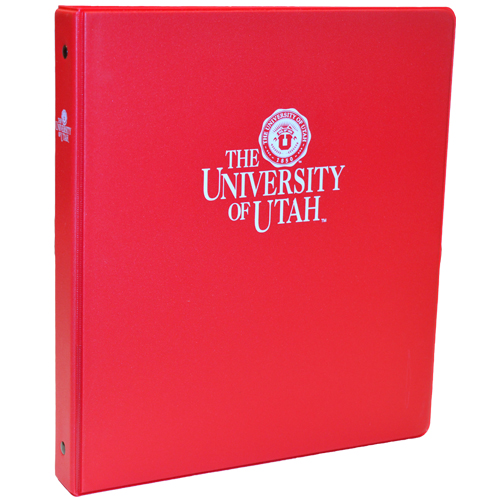 Image For University of Utah  1 Inch Three Ring Binder