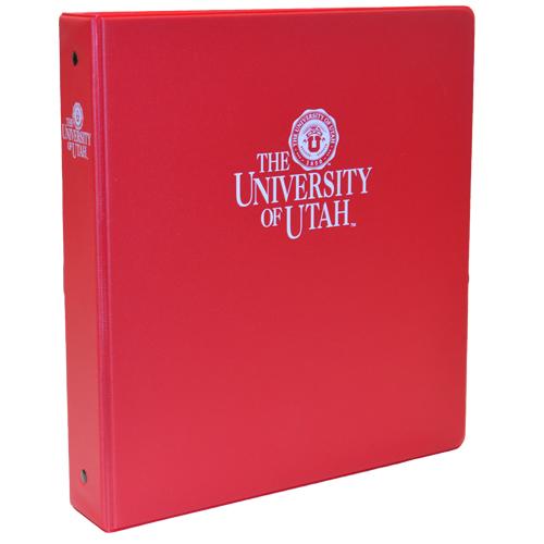 red one half inch university of utah binder university campus store