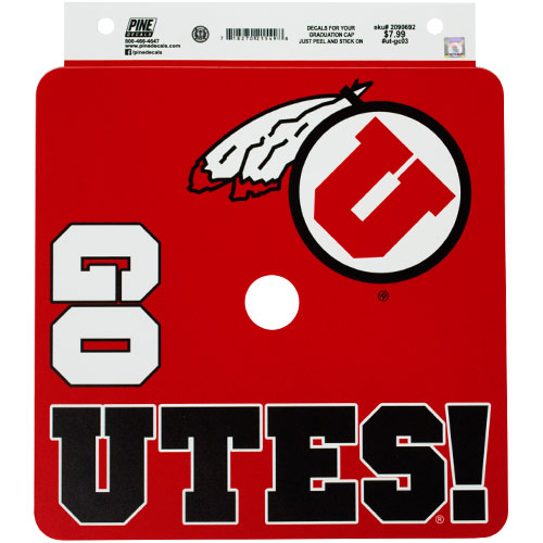 Image For Go Utes Athletic Logo Cap Decal