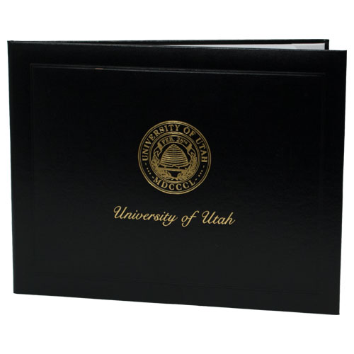 Image For Deluxe Black University of Utah Medallion Logo Diploma Cover