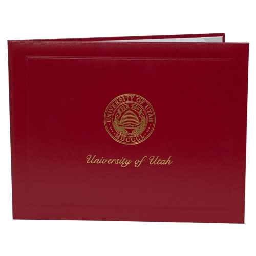 Image For Deluxe Red University of Utah Medallion Logo Diploma Cover