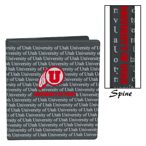 Image For University of Utah Athletic Logo One Inch Three Ring Binder