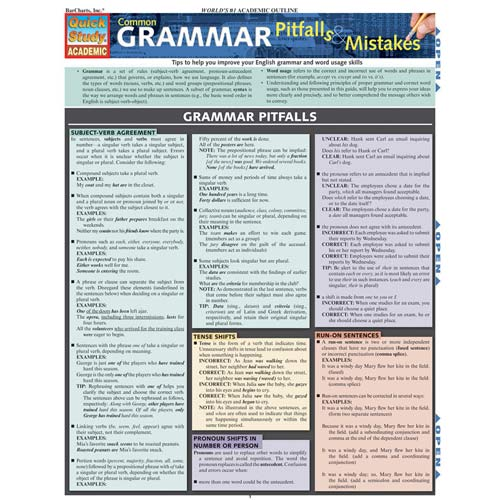 Image For Common Grammar Pitfalls & Mistakes Barchart