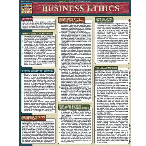 Image For Business Ethics Barchart