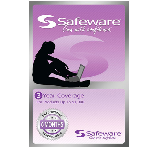 Image For Safeware 3 Year Protection Plan-Light Purple