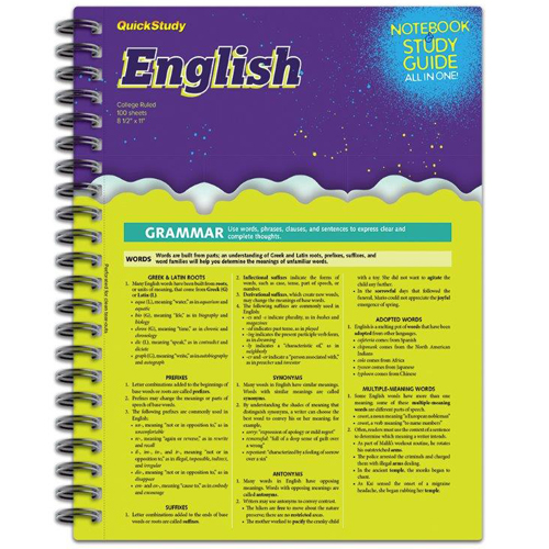 Cover Image For English Spiral Notebook