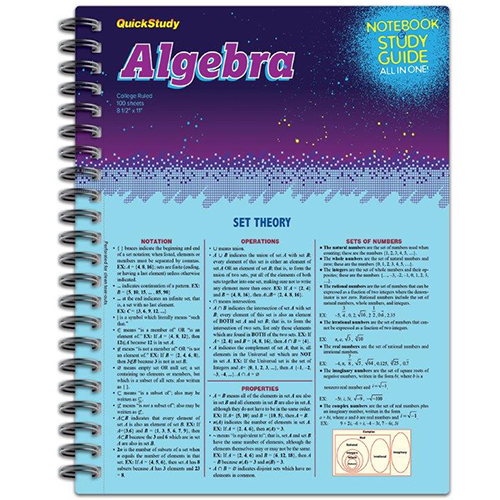 Image For Algebra Spiral Notebook