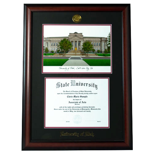 Image For Jostens Meridian Diploma Frame - Campus Image