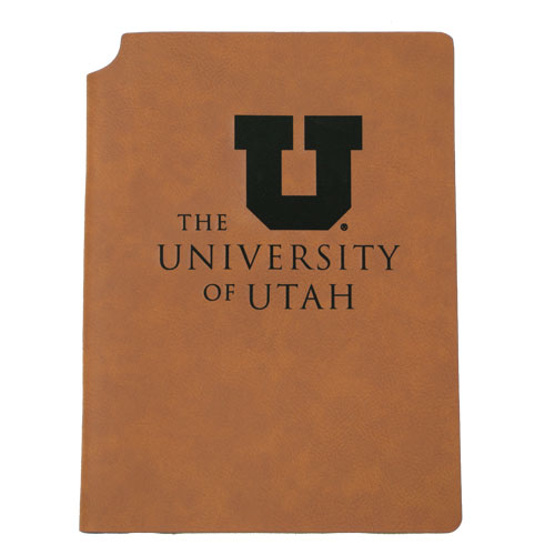 Cover Image For University of Utah Leatherette Journal with Pen Holder