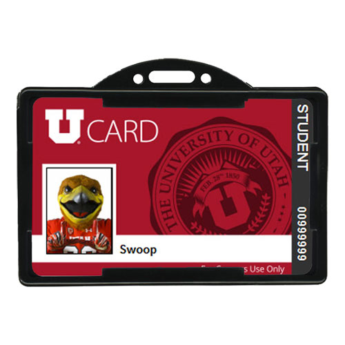Image For Black Horizontal ID Card Holder