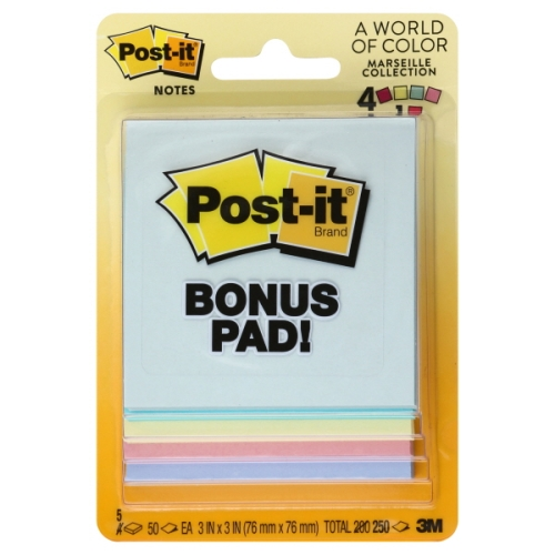 Image For Pastel Post-It Notes 5-Pack