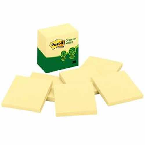 Image For Post-It Greener Notes Recycled