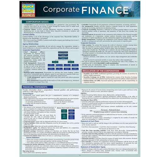 Cover Image For Corporate Finance Barchart