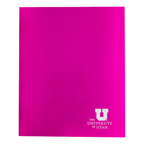Image For University of Utah Glossy Pink Two Pocket Folder