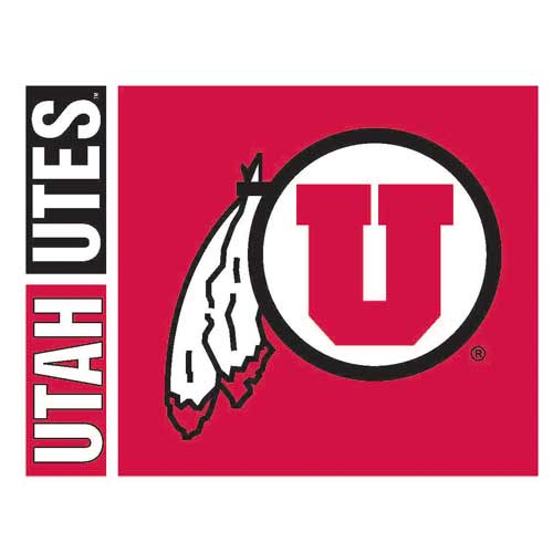 Cover Image For Utah Utes Athletic Logo Greeting Card