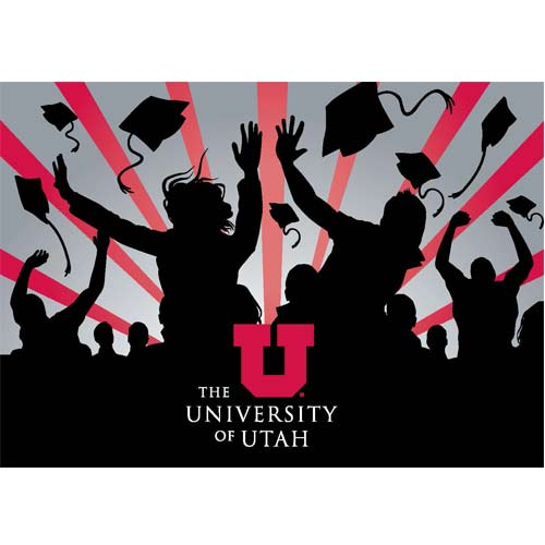 Image For University of Utah GO UTES Graduation Greeting Card