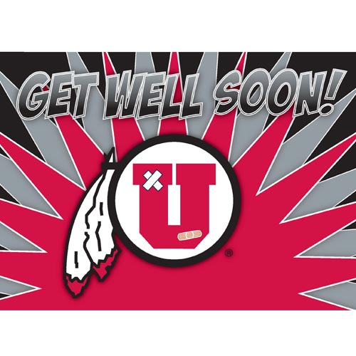 Image For Utah Utes Get Well Soon Greeting Card