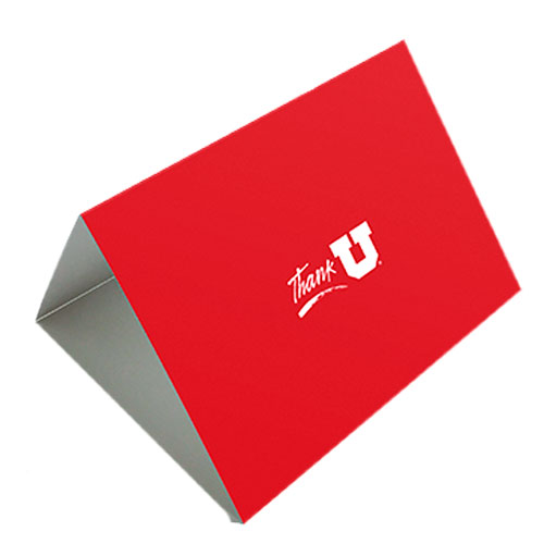 Image For Red Block U Thank You Cards