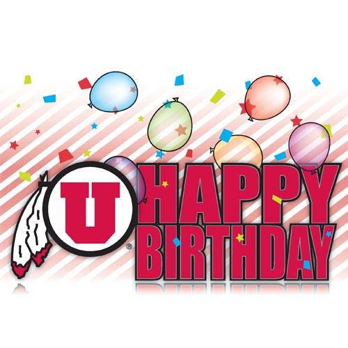 Athletic Logo Utah Utes Happy Birthday Greeting Card University