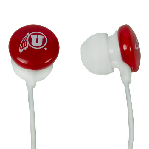 Image For Utah Utes Athletic Logo Earbuds