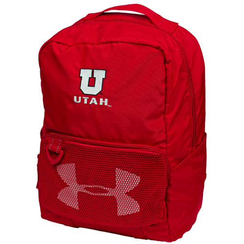 Image For Utah Block U Under Armour Red Backpack
