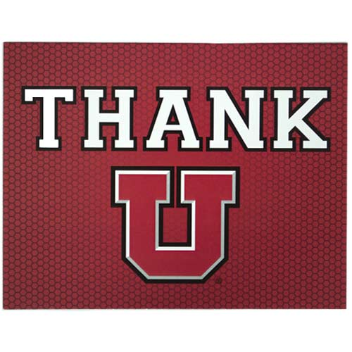 Image For University of Utah Block U Thank You