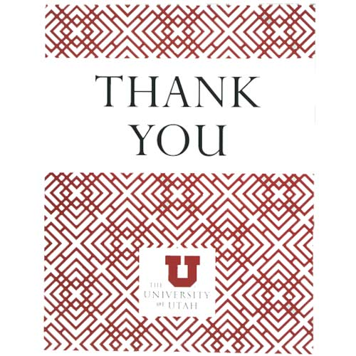 Image For University of Utah Thank You Card