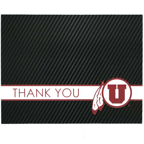 Image For Utah Utes Athletic Logo Thank You Cards