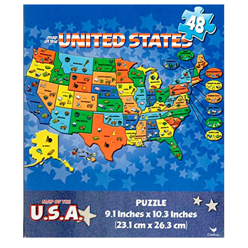 Image For Map Of The United States 48pc. Puzzle