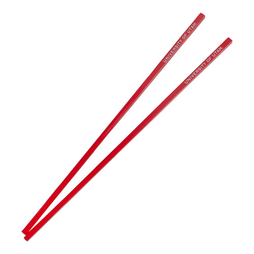 Image For University of Utah Red Reusable Chopsticks