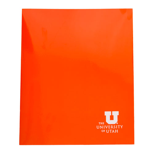 Image For University of Utah Glossy Orange Two Pocket Folder