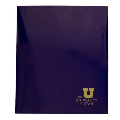 Image For University of Utah Glossy Purple Two Pocket Folder