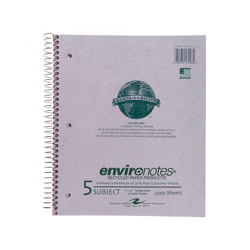 Image For 5 Subject Environotes Notebook